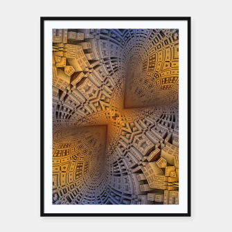 Thumbnail image of Golden Puzzle KM Blue Hue Framed poster, Live Heroes