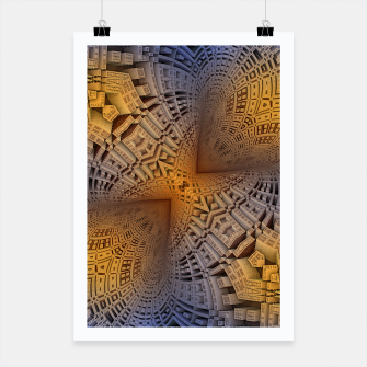 Thumbnail image of Golden Puzzle KM Blue Hue Poster, Live Heroes