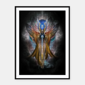 Thumbnail image of Caged Beauty Framed poster, Live Heroes