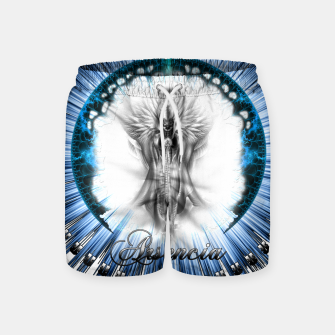 Thumbnail image of Arsencia Ethereal Silver Light Swim Shorts, Live Heroes
