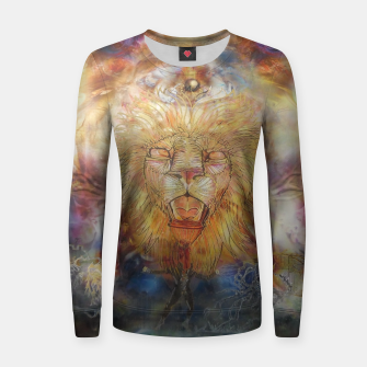 Thumbnail image of lion an lioness oneness Woman cotton sweater, Live Heroes