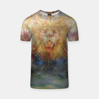 Thumbnail image of lion an lioness oneness T-shirt, Live Heroes