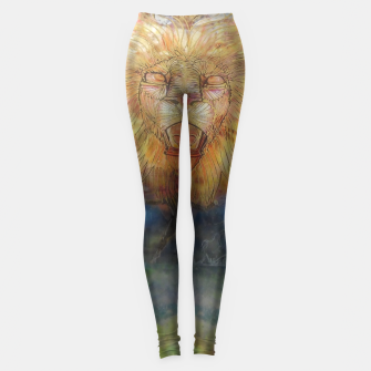 Thumbnail image of lion an lioness oneness Leggings, Live Heroes
