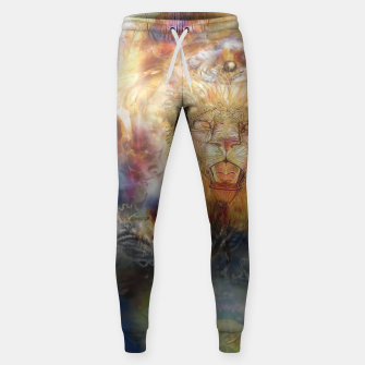Thumbnail image of lion an lioness oneness Cotton sweatpants, Live Heroes