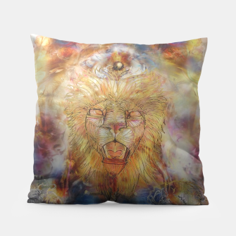 Thumbnail image of lion an lioness oneness Pillow, Live Heroes