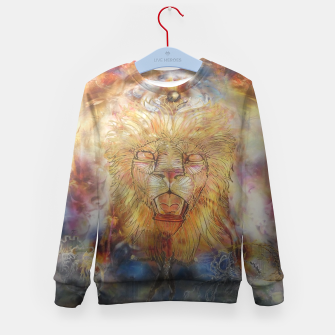 Thumbnail image of lion an lioness oneness Kid's sweater, Live Heroes