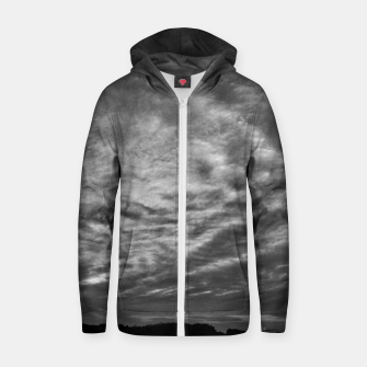 Thumbnail image of Dramatic Sky Cotton zip up hoodie, Live Heroes