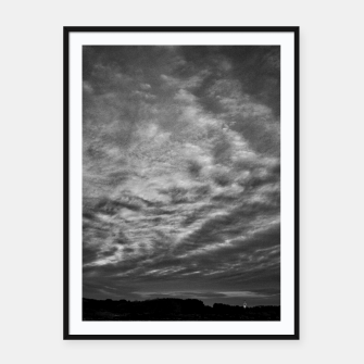 Thumbnail image of Dramatic Sky Framed poster, Live Heroes