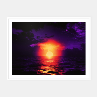 Thumbnail image of Fire purple cloud by #Bizzartino Framed poster, Live Heroes