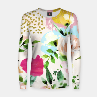 Thumbnail image of Floral Blush Woman cotton sweater, Live Heroes