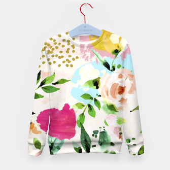 Thumbnail image of Floral Blush Kid's sweater, Live Heroes