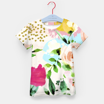 Thumbnail image of Floral Blush Kid's t-shirt, Live Heroes