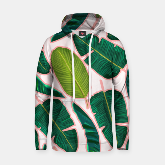 Thumbnail image of Banana Leaf Blush Cotton hoodie, Live Heroes