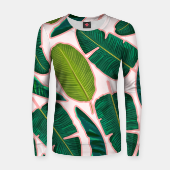 Thumbnail image of Banana Leaf Blush Woman cotton sweater, Live Heroes