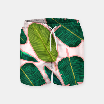Thumbnail image of Banana Leaf Blush Swim Shorts, Live Heroes
