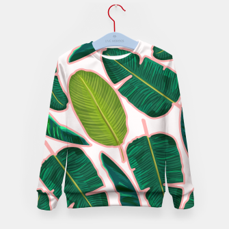 Thumbnail image of Banana Leaf Blush Kid's sweater, Live Heroes
