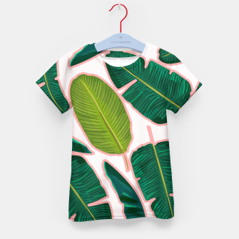 Thumbnail image of Banana Leaf Blush Kid's t-shirt, Live Heroes