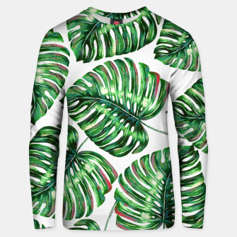 Thumbnail image of Tropical Greenery Cotton sweater, Live Heroes