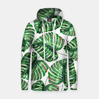 Thumbnail image of Tropical Greenery Cotton hoodie, Live Heroes