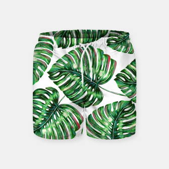 Thumbnail image of Tropical Greenery Swim Shorts, Live Heroes
