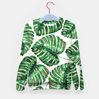 Thumbnail image of Tropical Greenery Kid's sweater, Live Heroes