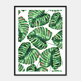 Thumbnail image of Tropical Greenery Framed poster, Live Heroes