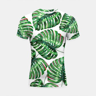 Thumbnail image of Tropical Greenery Shortsleeve rashguard, Live Heroes