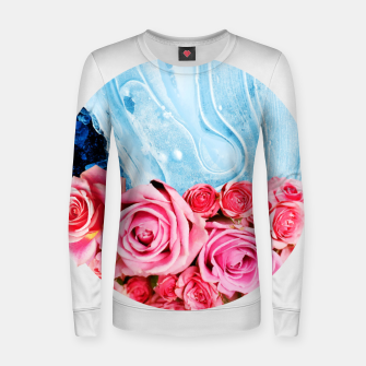 Thumbnail image of Unexpected Blossom Woman cotton sweater, Live Heroes