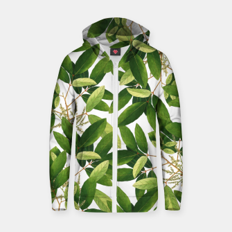 Thumbnail image of Greenery Cotton zip up hoodie, Live Heroes