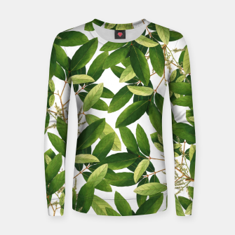 Thumbnail image of Greenery Woman cotton sweater, Live Heroes