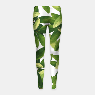 Thumbnail image of Greenery Girl's leggings, Live Heroes