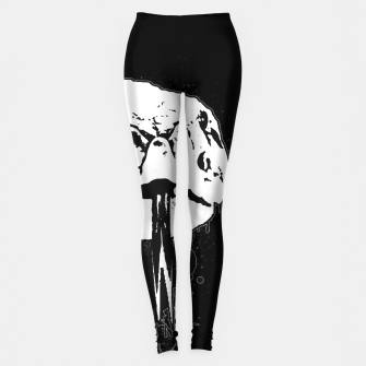 Thumbnail image of gxp klapperschlange nahaufnahme rattlesnake close up spray art sprühkunst graffiti Leggings, Live Heroes
