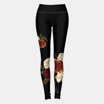 Thumbnail image of chrysanthemum and peony with Japanese traditional emblem Kamon decoration. Leggings, Live Heroes