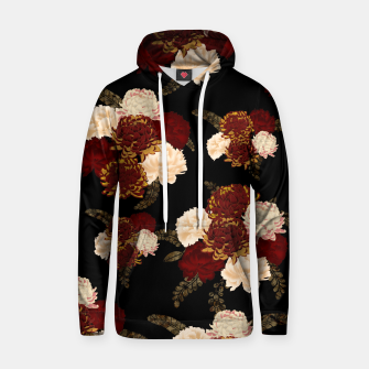 Thumbnail image of Japanese style flower art chrysanthemum and peony Cotton hoodie, Live Heroes