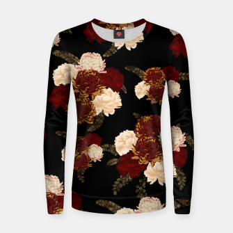 Thumbnail image of Japanese style flower art chrysanthemum and peony Woman cotton sweater, Live Heroes