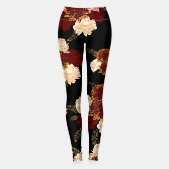 Thumbnail image of Japanese style flower art chrysanthemum and peony Leggings, Live Heroes