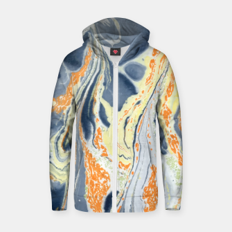 Thumbnail image of Erupting Lava Marbling |  Cotton zip up hoodie, Live Heroes
