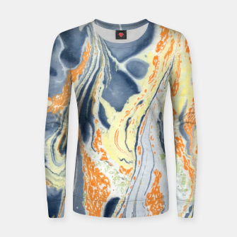 Thumbnail image of Erupting Lava Marbling |  Woman cotton sweater, Live Heroes