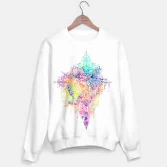 "Thumbnail image of Heart in Colorful Galaxy Mandala - ""faith"" Sweater regular, Live Heroes"
