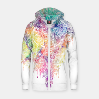 "Miniaturka Heart in Colorful Galaxy Mandala - ""faith"" Cotton zip up hoodie, Live Heroes"