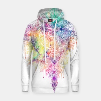 "Thumbnail image of Heart in Colorful Galaxy Mandala - ""faith"" Cotton hoodie, Live Heroes"
