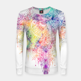 "Miniaturka Heart in Colorful Galaxy Mandala - ""faith"" Woman cotton sweater, Live Heroes"
