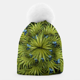 "Miniaturka ""El Bosco fantasy, tropical island blue butterflies"" Gorro, Live Heroes"