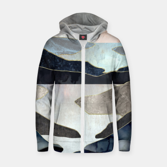 Thumbnail image of Blue Mountain Lake Cotton zip up hoodie, Live Heroes