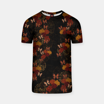 Thumbnail image of Butterfly and Japanesque Rose Baroque decoration T-shirt, Live Heroes