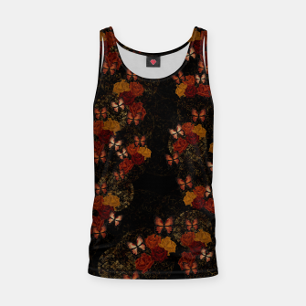 Thumbnail image of Butterfly and Japanesque Rose Baroque decoration Tank Top, Live Heroes