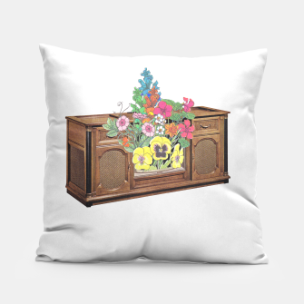 Thumbnail image of Vintage Television Pillow, Live Heroes