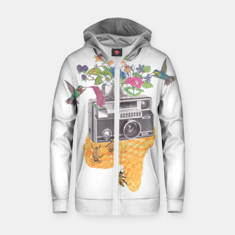 Vintage Camera Cotton zip up hoodie thumbnail image