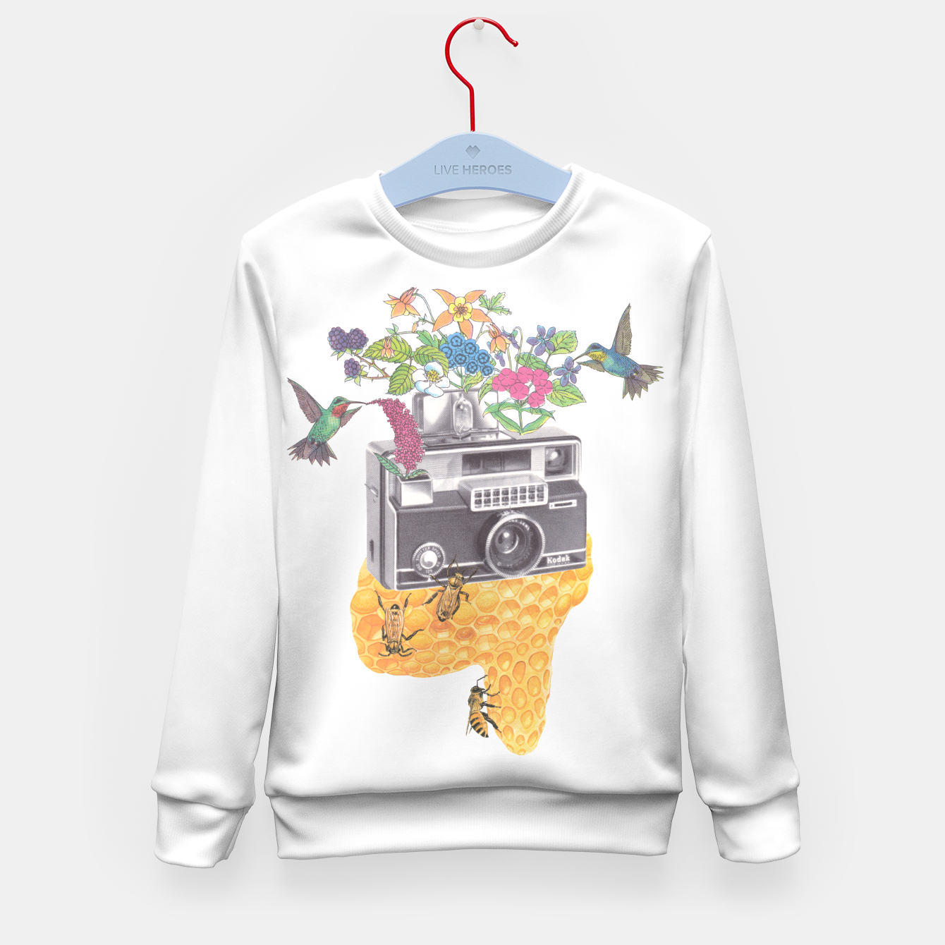 Image of Vintage Camera Kid's sweater - Live Heroes