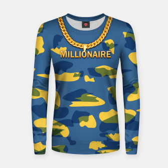 Thumbnail image of Millionaire Woman cotton sweater, Live Heroes